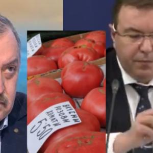 Министър Ангелов скочи на Кантарджиев за доматите